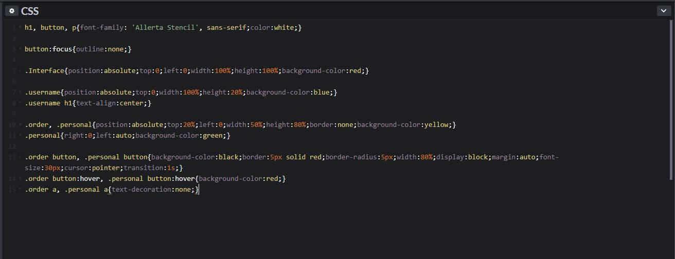 Designing Customer Web Interface in HTML and CSS Step by Step