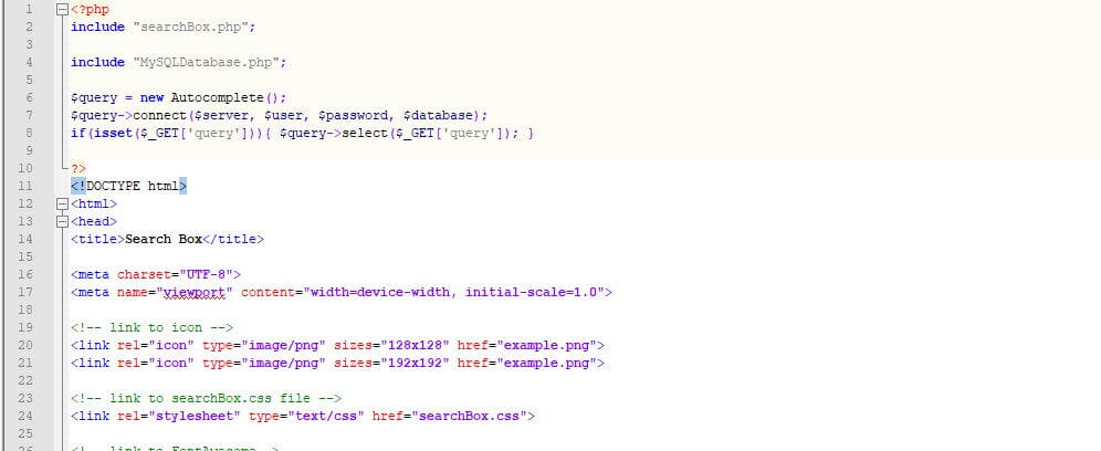How to create an autocomplete search box in jQuery and PHP